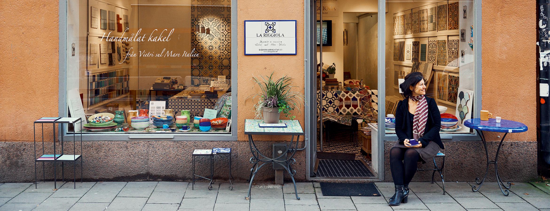 Luisa Martorelli har keramikbutiken La Riggiola på Rörstrandsgatan