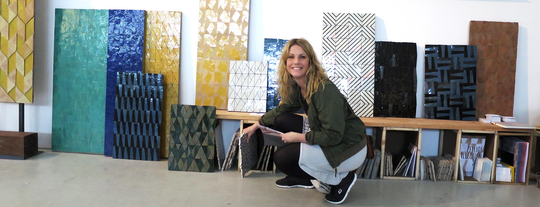 Stylisten Jill Windahl på plats i Milano under Salone del Mobile 2016