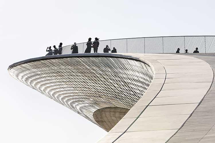 Taket på MAAT, Lissabon.