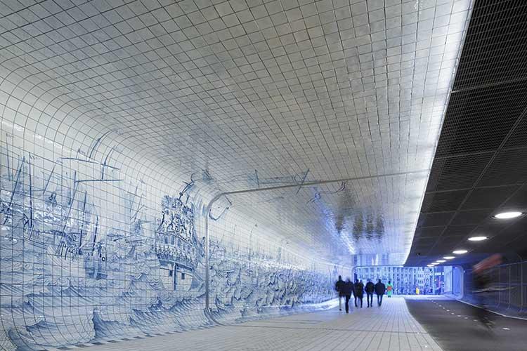 Kaklad tunnel i Amsterdam av Benthem Crouwel.