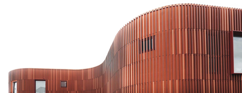 BKR-forfattarhuset keramiska fasader