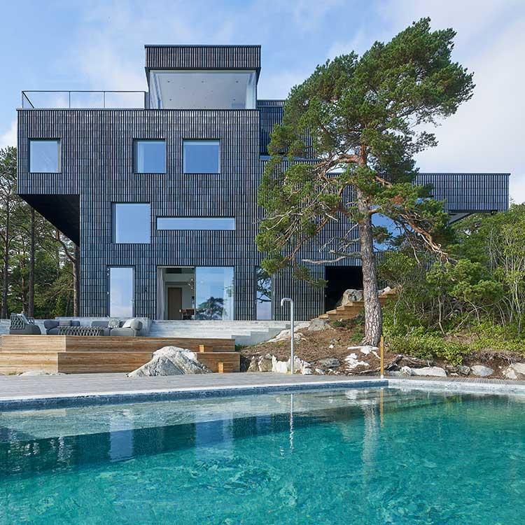 Villa Sagalid i Stockholms skärgård.